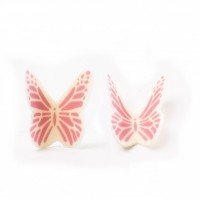 Butterfly White Pink 77572