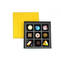 9PC PRALINES IN GOLD BOX