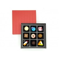9PC PRALINES IN RED BOX